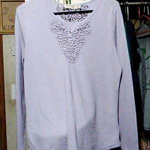 Purple Long Sleeve Blouse